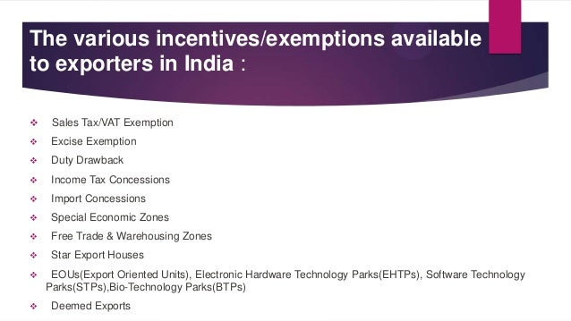 export assistance and incentives Export assistance and incentives by asha05 in types presentations and export assistance and incentives.