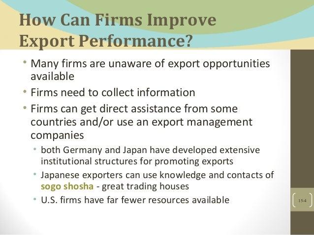Exports, counter trade