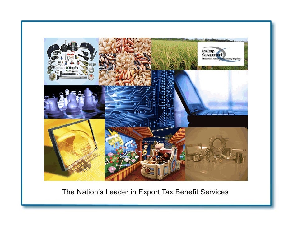The Nation's Leader in Export Tax Benefit Services