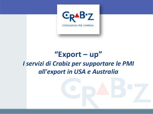 """""""Export – up""""I servizi di Crabiz per supportare le PMI      allexport in USA e Australia"""