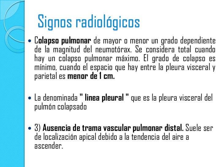 NEUMOTORAX ESPONTANEO TOTALColapso pulmonar total y formación del muñón