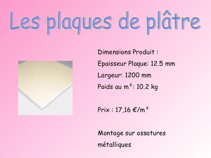 Epaisseur plaque de platre - Plaque de placo dimension ...