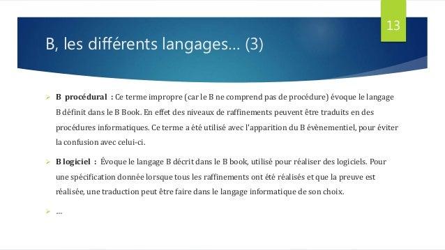 expos u00e9 langage