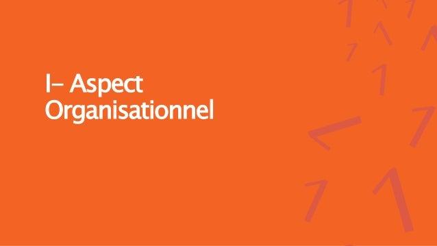 I- Aspect Organisationnel
