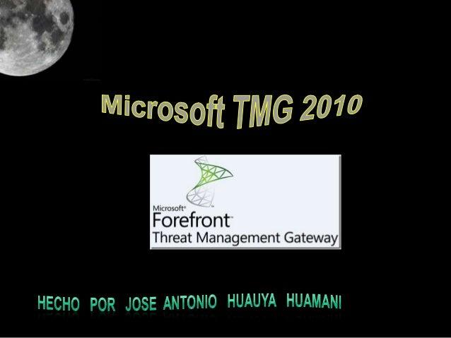 CONCEPTO:Es un completo Gateway de seguridad web desarrollado porMicrosoft que ayuda a proteger a las Empresas de lasamena...