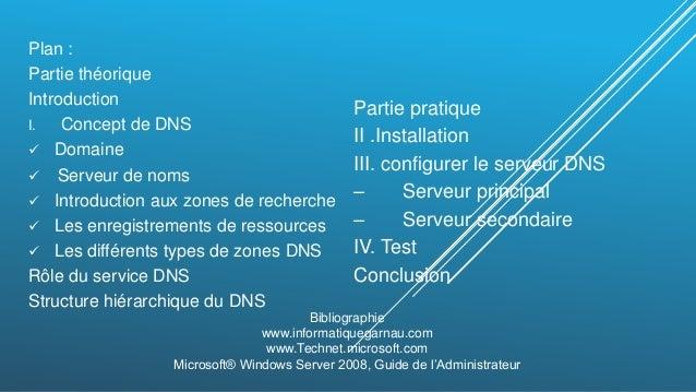 ... BOULALAAM  2. Plan   Partie théorique Introduction I. Concept de DNS   Domaine ... 5ef0c61bbb4f