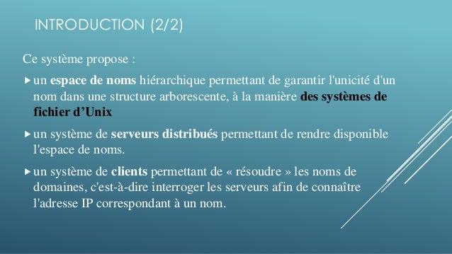4. INTRODUCTION (2 2) Ce système propose   un espace de noms hiérarchique  ... 7e0b15d390dd