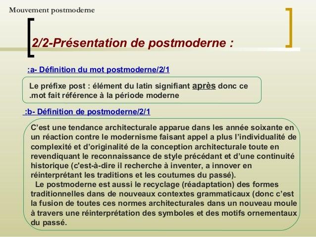 Expos e sur jean nouve l for Conception architecturale definition