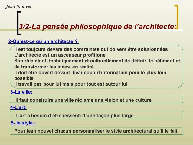 Expos e sur jean nouve l for Architecture definition philosophique