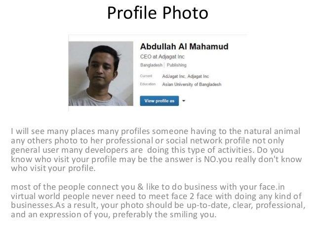 Profile of someone