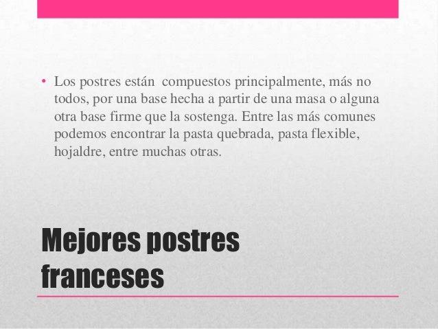 Reposter a francesa for Postres franceses frios