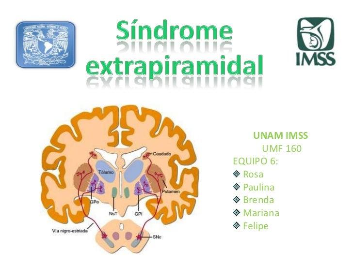 Exposición síndromes motores (síndrome extrapiramidal)