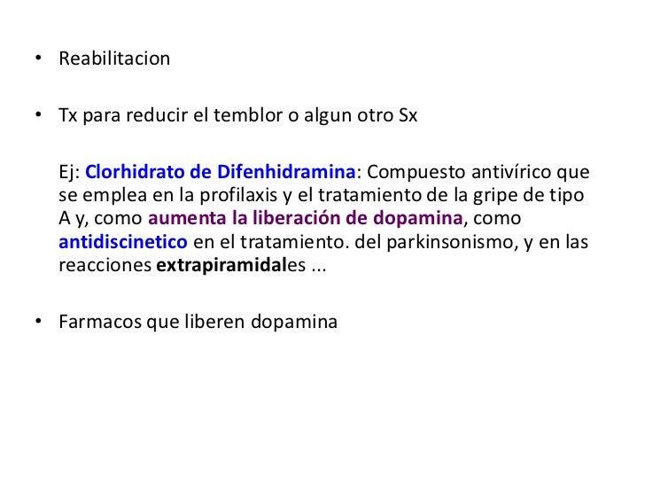 Tx de Sx extrapiramidales<br />