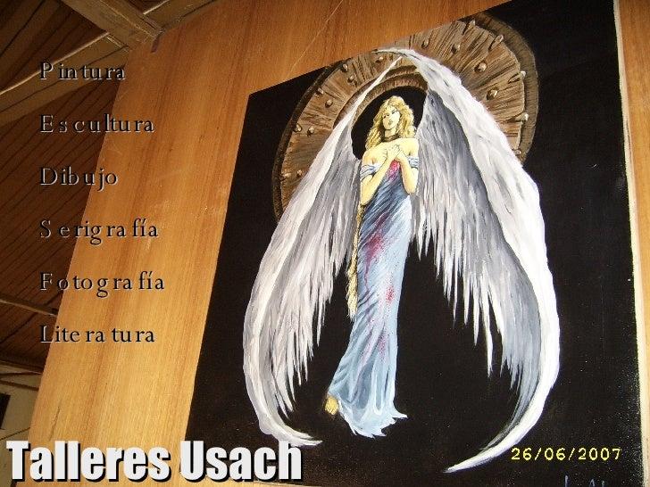 Pintura Escultura Dibujo Serigrafía Fotografía Literatura Talleres Usach