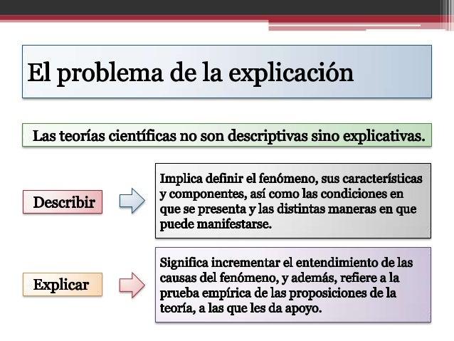 Las teorías y modelos en la explicación científica