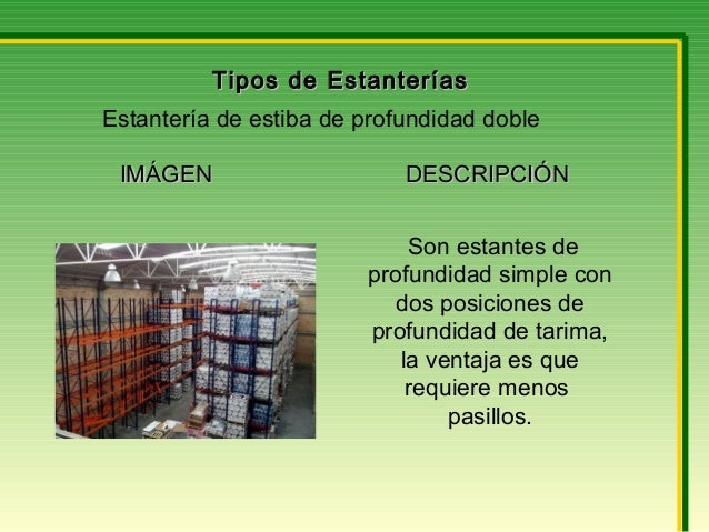Tipos de estanter as y maquinaria para movimiento de - Tipos de estanterias ...