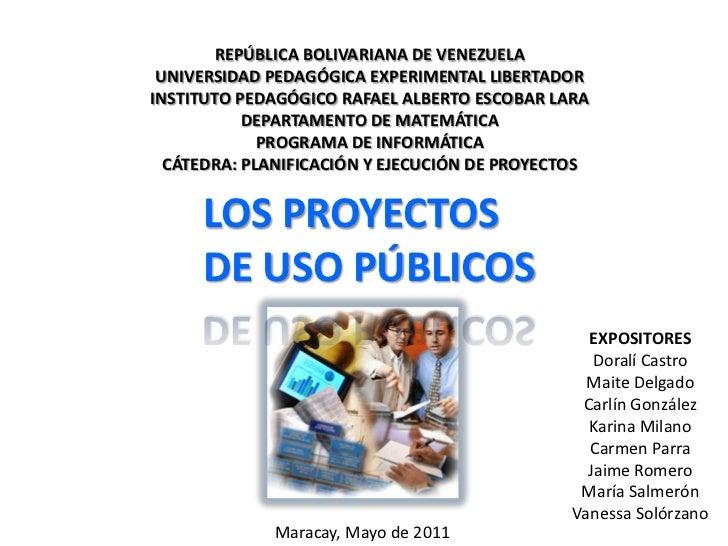 REPÚBLICA BOLIVARIANA DE VENEZUELA<br />UNIVERSIDAD PEDAGÓGICA EXPERIMENTAL LIBERTADOR<br />INSTITUTO PEDAGÓGICO RAFAEL AL...