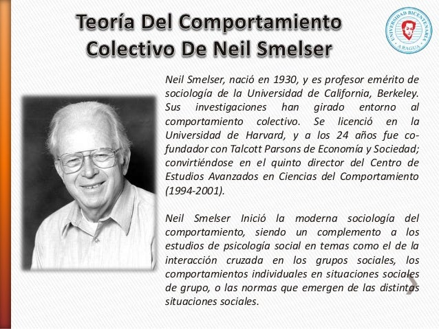 Neil Smelser, nació en 1930, y es profesor emérito de sociología de la Universidad de California, Berkeley. Sus investigac...