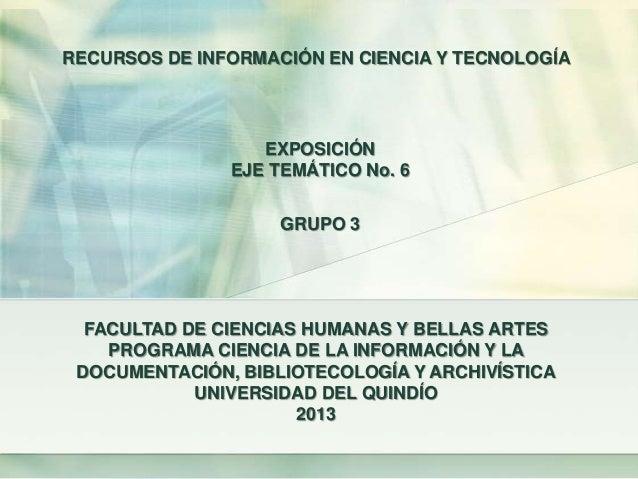FACULTAD DE CIENCIAS HUMANAS Y BELLAS ARTESPROGRAMA CIENCIA DE LA INFORMACIÓN Y LADOCUMENTACIÓN, BIBLIOTECOLOGÍA Y ARCHIVÍ...