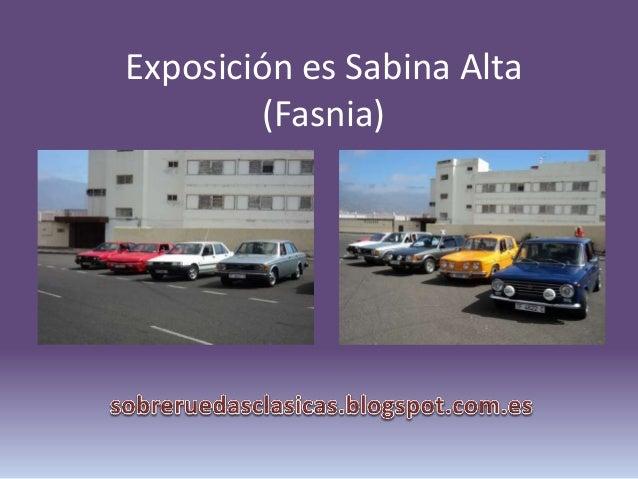 Exposición es Sabina Alta (Fasnia)