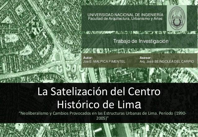 UNIVERSIDAD NACIONAL DE INGENIERÍA                                   Facultad de Arquitectura, Urbanismo y Artes          ...
