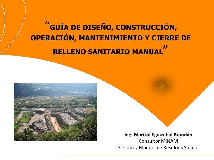 Exposici n guia de relleno sanitario for Manual de diseno y construccion de albercas pdf