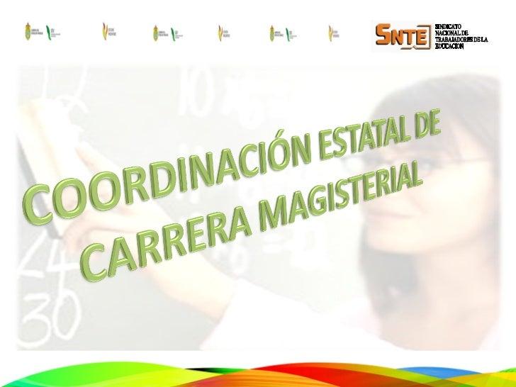 ¿ Qué es Carrera Magisterial ?Es un sistema de promoción horizontal,de participación individual y voluntaria,cuya finalida...