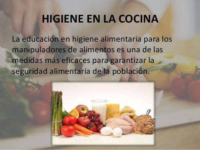 Exposici n manipulador de alimentos for La cocina de los alimentos pdf