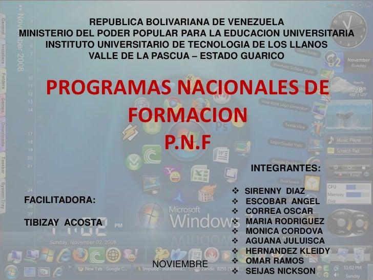 REPUBLICA BOLIVARIANA DE VENEZUELA<br />MINISTERIO DEL PODER POPULAR PARA LA EDUCACION UNIVERSITARIA<br />INSTITUTO UNIVER...