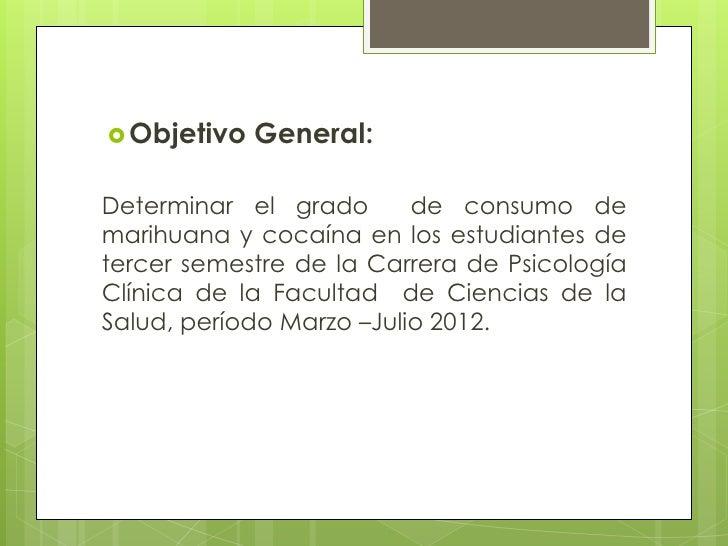 Diapositivas proyecto marihuana for Objetivo general de un vivero