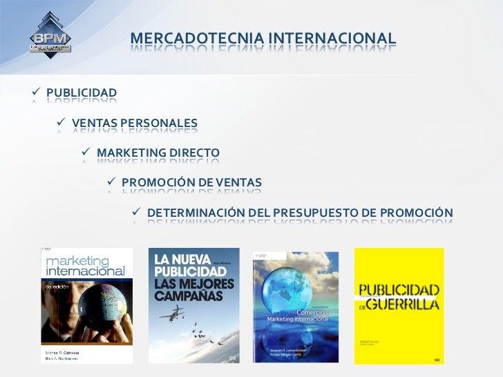 MERCADOTECNIAINTERNACIONAL PUBLICIDAD     VENTASPERSONALES        MARKETINGDIRECTO            PROMOCIÓNDE...