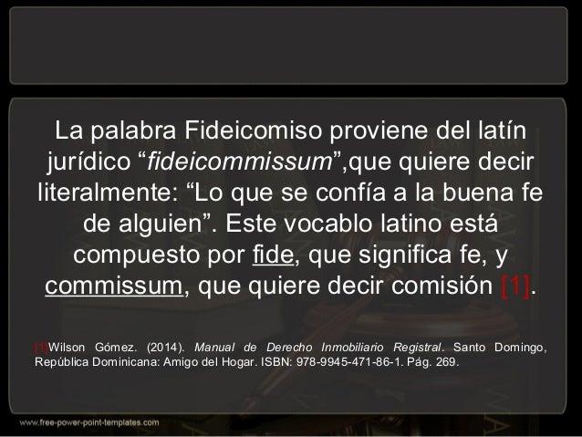 Exposición sobre el fideicomiso Slide 2