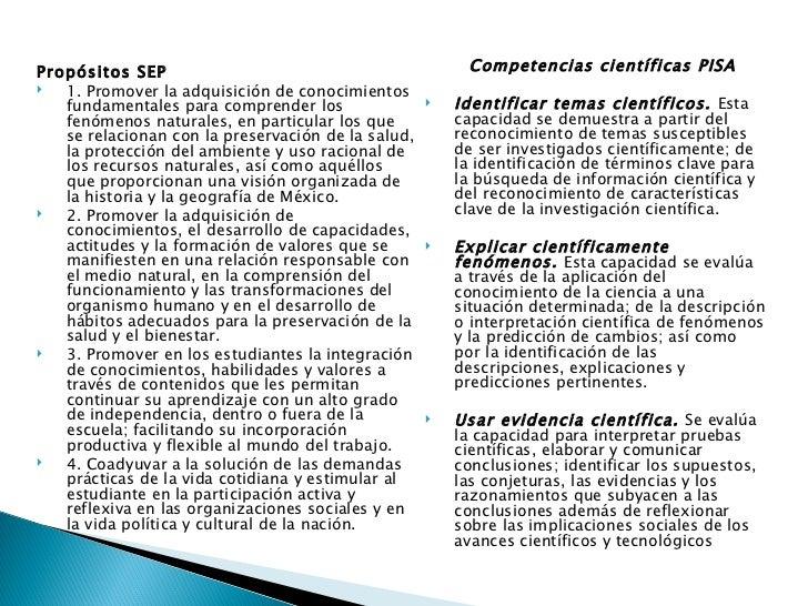 <ul><li>Competencias científicas PISA </li></ul><ul><li>Identificar temas científicos.  Esta capacidad se demuestra a part...