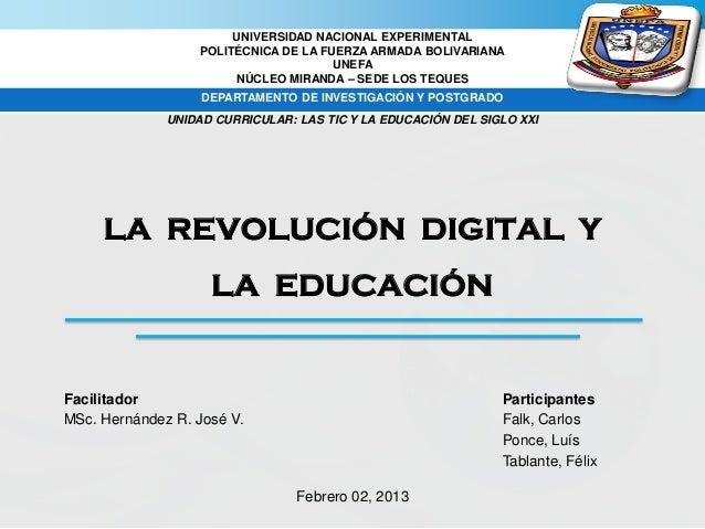 La Revolución Digital y la Educación Slide 2