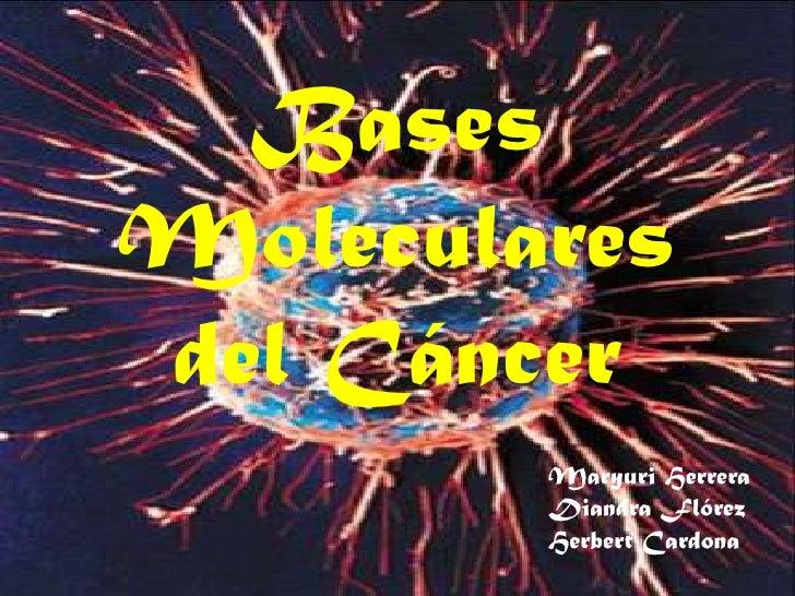 Bases Moleculares del Cáncer<br />MaryuriHerrera Diandra FlórezHerbert Cardona<br />