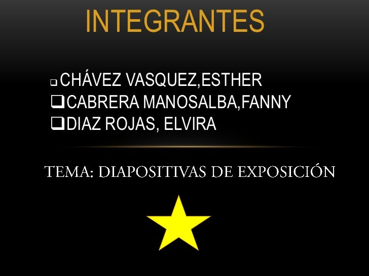 INTEGRANTES<br /><ul><li>CHÁVEZ VASQUEZ,ESTHER
