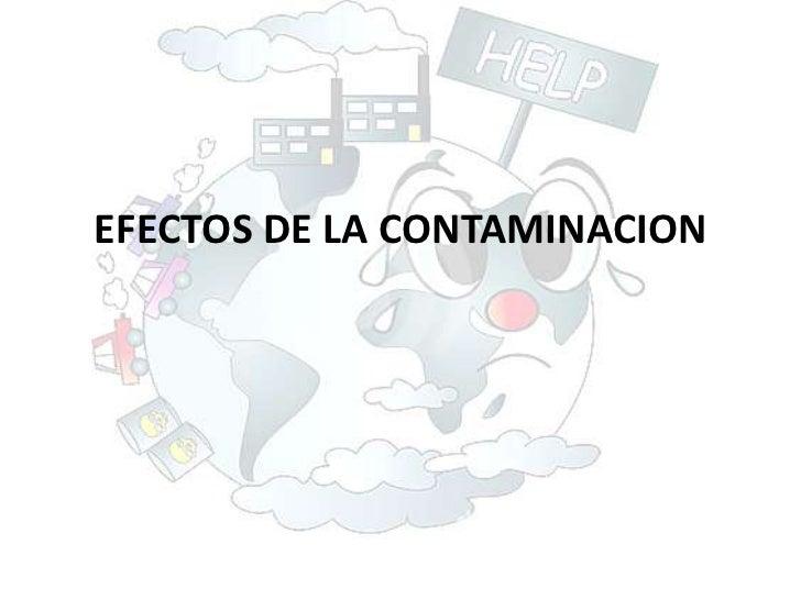 EFECTOS DE LA CONTAMINACION