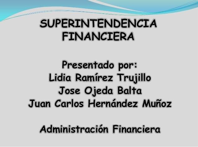 Exposicion Superintendencia Financiera Colombiana