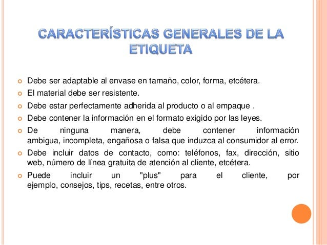 Aspectos legales del empaque for Numero atencion al consumidor