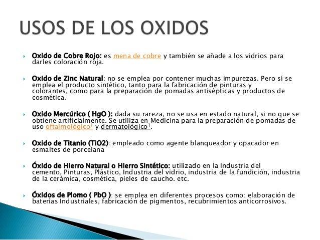 Oxidos y peroxidos for Oxidos para ceramica
