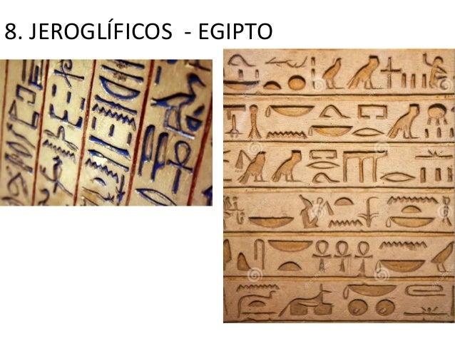 8. JEROGLÍFICOS - EGIPTO