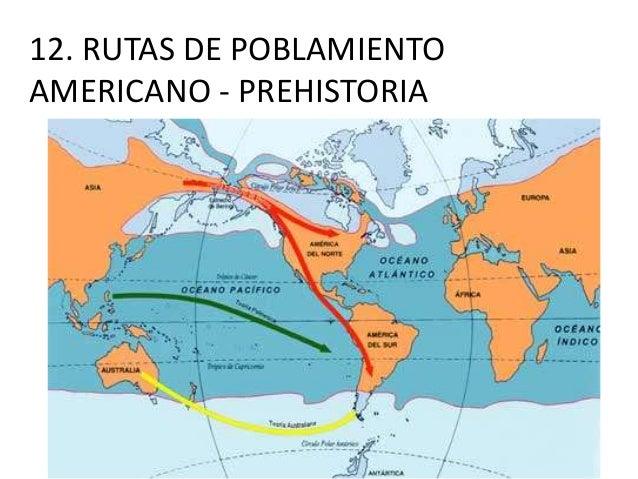 12. RUTAS DE POBLAMIENTO AMERICANO - PREHISTORIA