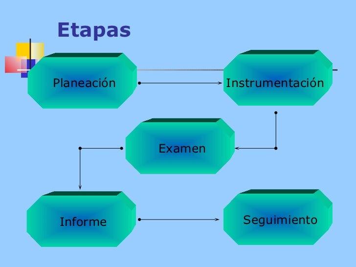 Etapas Seguimiento Instrumentación Examen Informe Planeación
