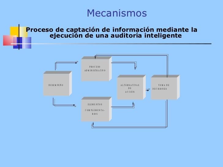 Mecanismos <ul><li>Proceso de captación de información mediante la ejecución de una auditoría inteligente </li></ul>