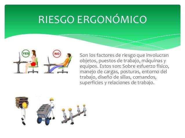 Riesgos biomecanicos y ergonomicos for Jardinero definicion