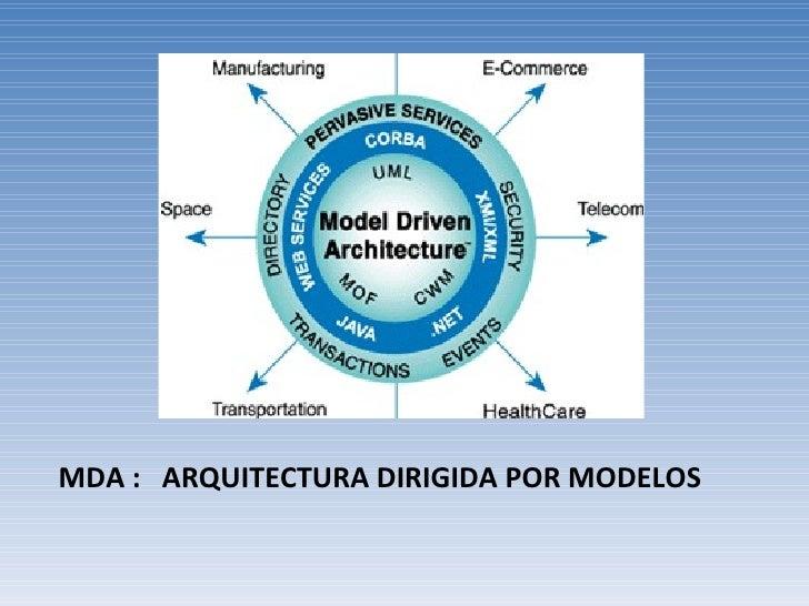 MDA :  ARQUITECTURA DIRIGIDA POR MODELOS