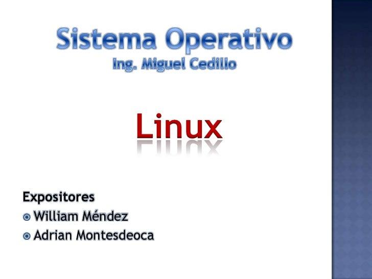LinuxExpositores William Méndez Adrian Montesdeoca