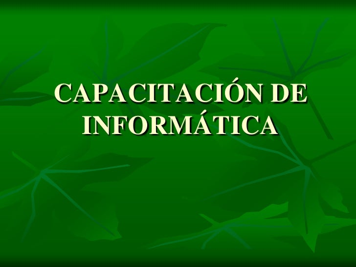 CAPACITACIÓN DE INFORMÁTICA<br />