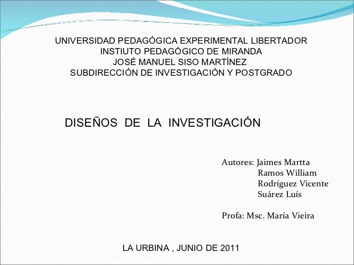UNIVERSIDAD PEDAGÓGICA EXPERIMENTAL LIBERTADOR INSTIUTO PEDAGÓGICO DE MIRANDA JOSÉ MANUEL SISO MARTÍNEZ  SUBDIRECCIÓN DE I...