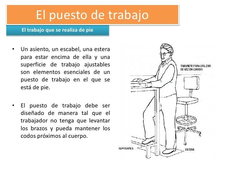Exposicion de ergonomia for Ergonomia en el puesto de trabajo